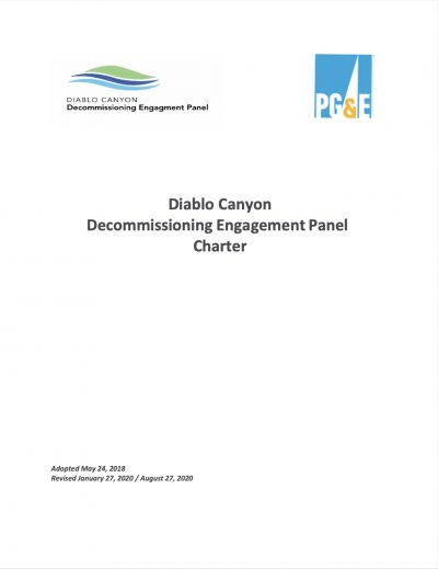 Panel Charter Cover 8-27-20